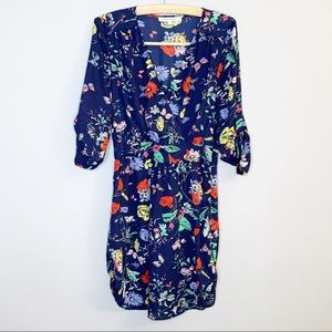 Black Rainn dress blue colorful floral small
